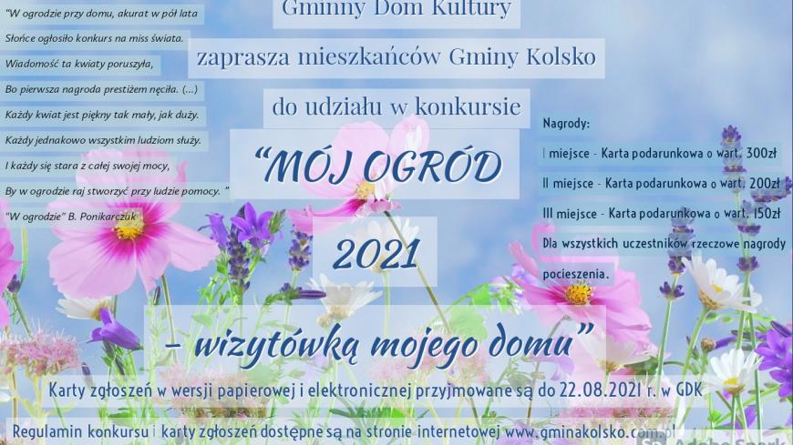 """Konkur """"Mój ogród- wizytówką mojego domu"""" 2021"""